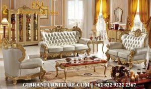 Gambar Sofa Tamu Mewah Terbaru, Set Kursi Tamu Ukir Klasik Modern