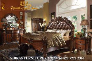 Gambar Tempat Tidur Ukiran Full Jati, Kamar Set Mewah Klasik Modern