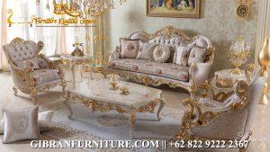 Kursi Ruang Tamu Mewah Classic Modern, Sofa Tamu Ukiran Jepara Klasik
