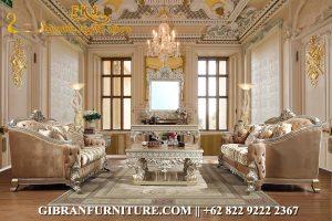 Kursi Sofa Ruang Tamu Mewah, Sofa Ruang Keluarga Ukiran Jepara Klasik