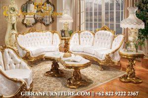 Kursi Sofa Tamu Mewah Gold Ukiran, Kursi Sofa Tamu Klasik Modern Jepara