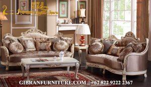 Model Kursi Ruang Tamu Klasik Modern, Sofa Tamu Mewah Ukir Jepara