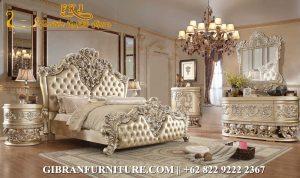 TTD-020 Model Tempat Tidur Classic Modern, Kamar Set Mewah Klasik Ukir Jepara