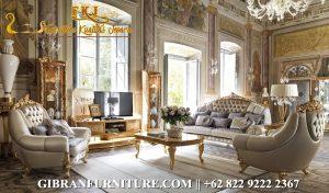 STM-020 Set Sofa Ruang Tamu Mewah Terbaru, Kursi Tamu Ukir Jepara Klasik