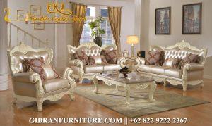 Set Sofa Tamu Klasik Modern, Kursi Tamu Mewah Ukiran Jepara