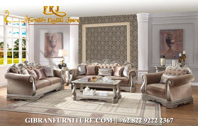 Set SofaTamu Mewah Klasik Modern