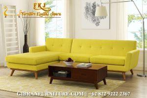 Sofa Ruang Keluarga Minimalis Sudut Jati, Kursi Tamu Mewah Minimalis Terbaru