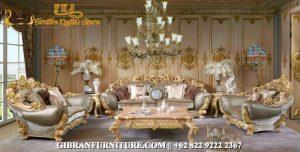 Sofa Ruang Tamu Ukiran Jepara Klasik, Set Sofa Tamu Mewah Jati Modern
