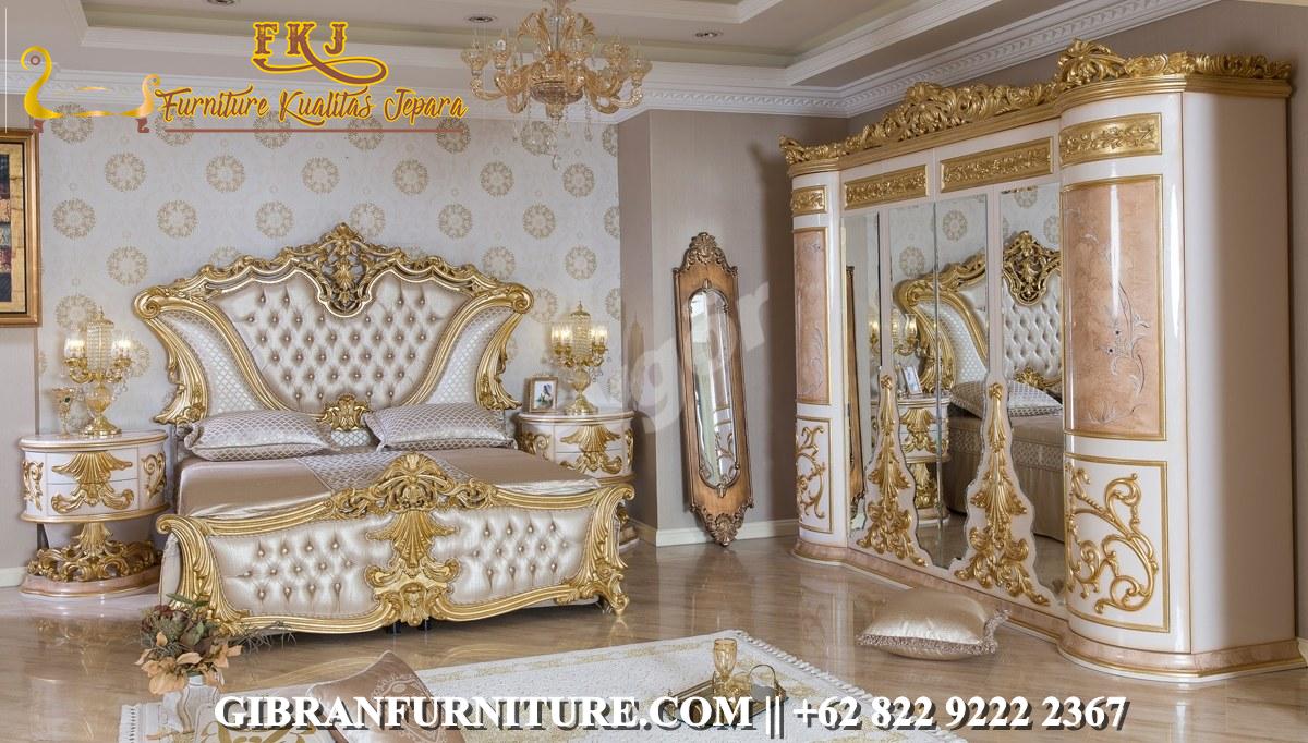 Kamar Set Tidur Mewah Ukiran Klasik Modern