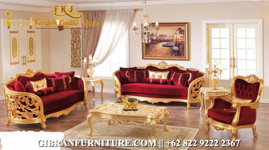 Kursi Sofa Tamu Klasik Modern Mewah
