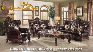 Kursi Tamu Mewah Ukir Jati Jepara, Sofa Tamu Mewah Klasik Modern