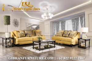 Kursi Tamu Minimalis Jati Modern, Set Sofa Tamu Mewah Minimalis Terbaru