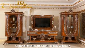 Set Bufet TV Kayu Jati Ukir