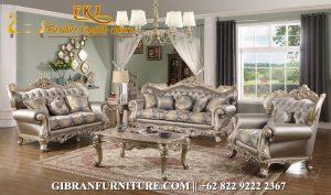 Set Kursi Tamu Ukiran Klasik, Sofa Tamu Mewah Klasik Modern