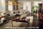 Sofa Ruang Keluarga Kayu Jati Sudut