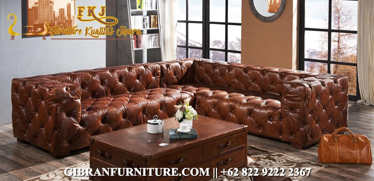 Sofa Ruang Keluarga Minimalis Chester Sudut
