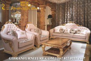 Sofa Ruang Tamu Mewah Classic, Set Sofa Tamu Ukiran Jepara