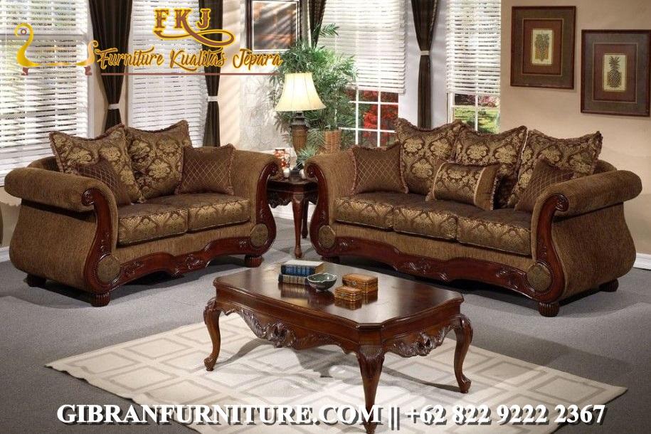 Sofa Ruang Tamu Minimalis Jati