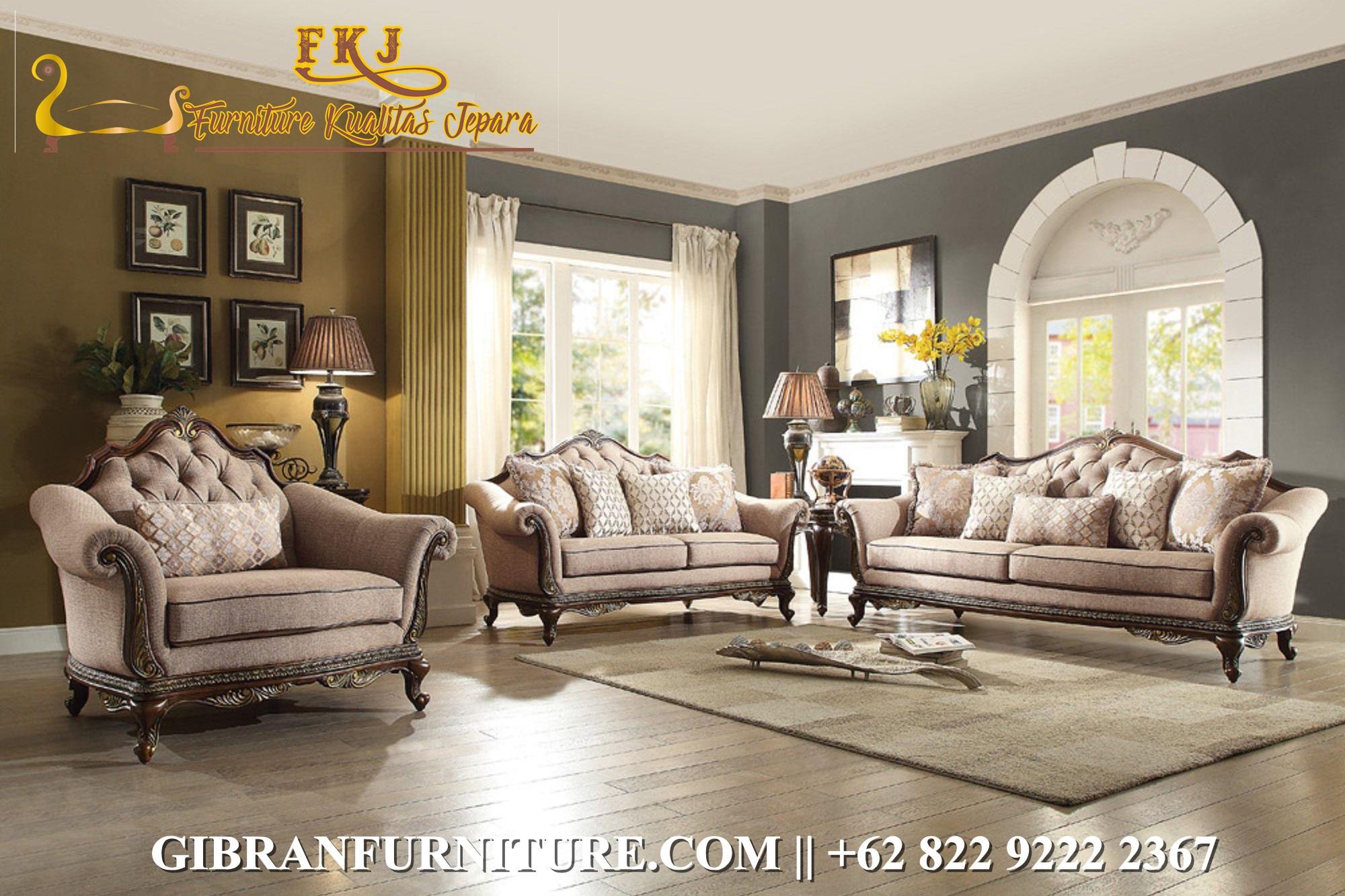 Sofa Ruang Tamu Ukir Jati Jepara