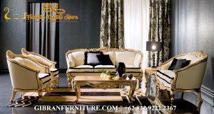 Sofa Tamu Mewah Victorian Klasik Modern, Kursi Tamu Ukiran Jepara Gold