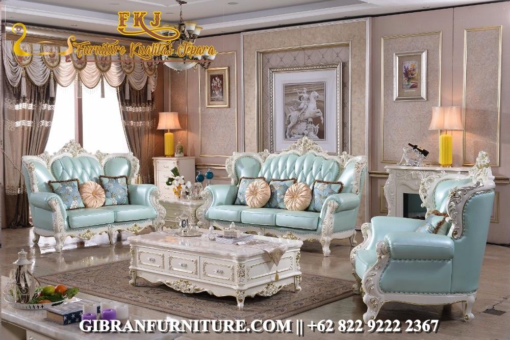 Sofa Tamu Ukir Klasik Modern