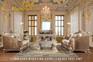 Kursi Sofa Ruang Keluarga Jati, Set Sofa Tamu Mewah Ukiran Jepara