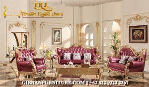 Kursi Tamu Ukiran Jepara Mewah Gold, Sofa Ruang Tamu Mewah Klasik Modern