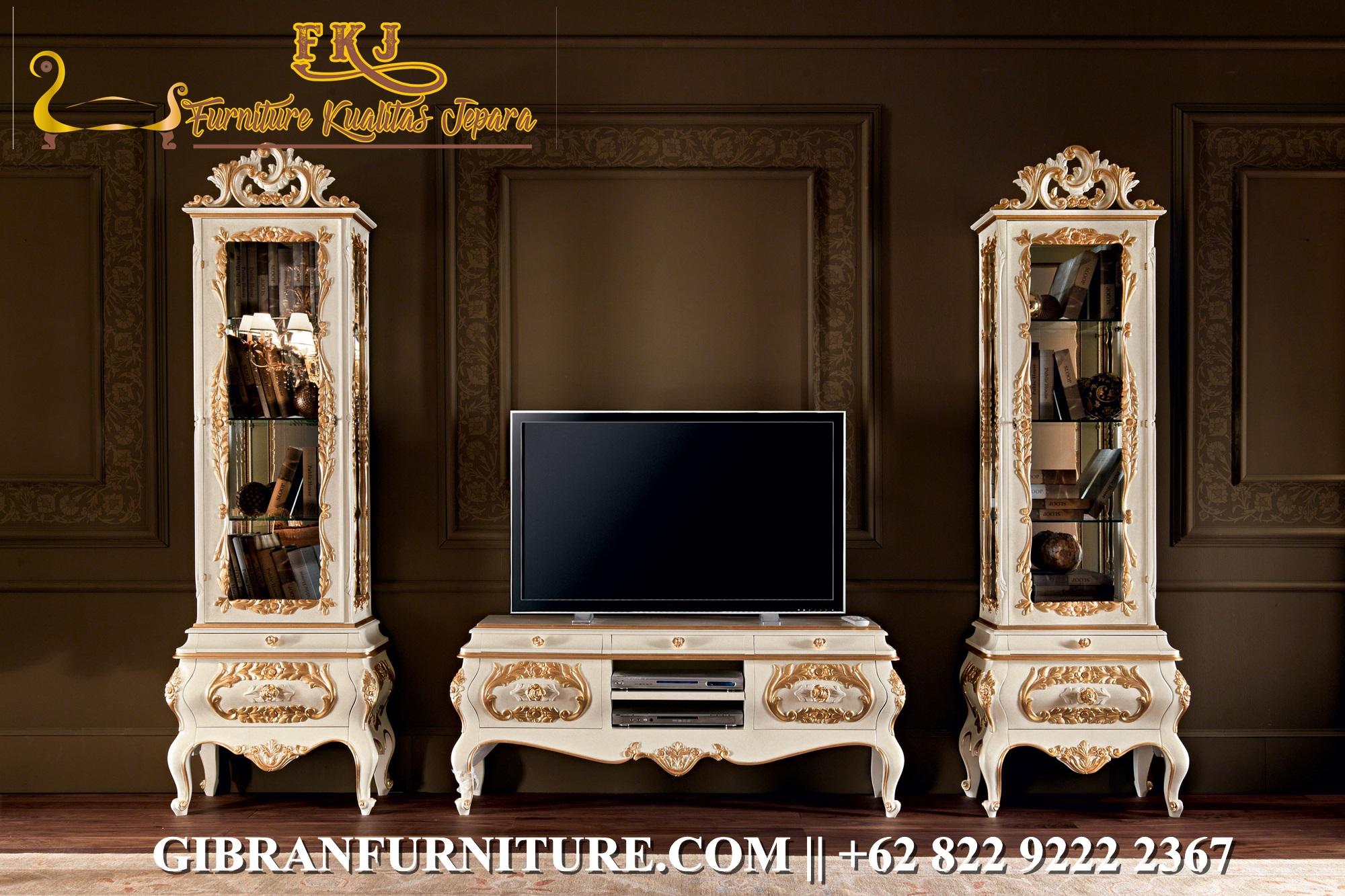 Set Bufet TV Mewah Klasik
