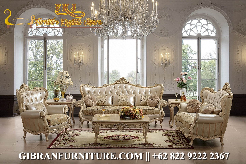 Set Sofa Tamu Mewah Klasik Modern