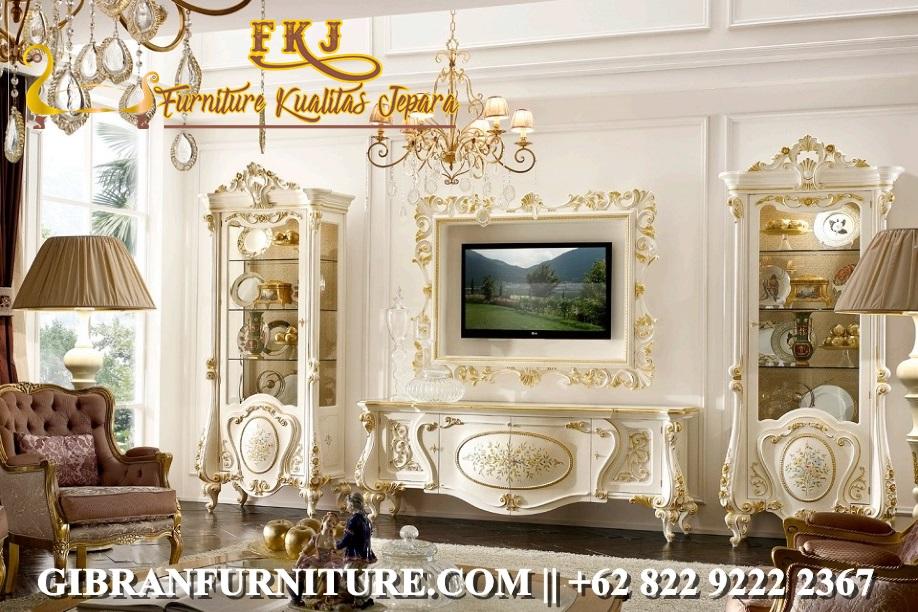 Gambar Bufet TV Mewah Modern Klasik