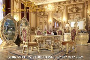 Gambar Kursi Makan Mewah Gold Modern