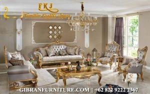 Gambar Kursi Tamu Mewah Gold Klasik