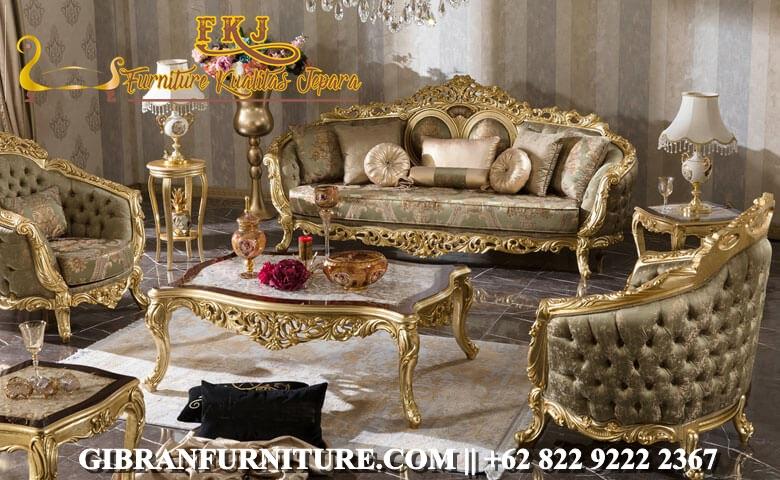 Kursi Sofa Tamu Mewah Klasik Modern