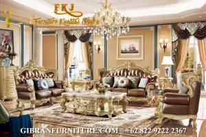 Kursi Tamu Mewah Ruang Keluarga